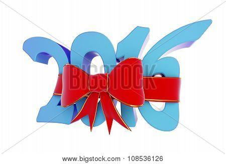 New Year 2016 Gift. 3D Illustrations On A White Background