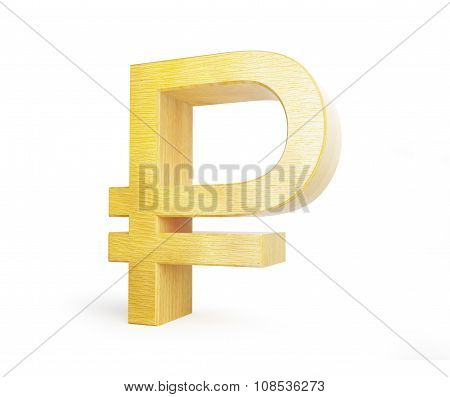 Wood Ruble Symbol