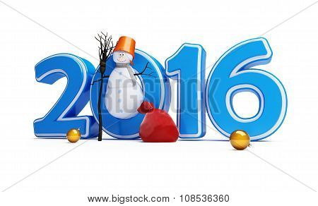 New Year 2016 Snowmen Happy