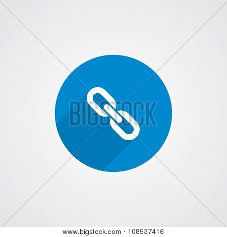Blue, Flat Link Icon