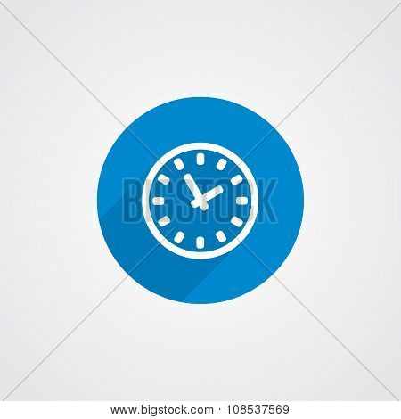 Flat Blue Time Icon