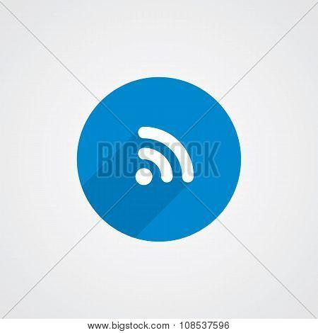 Flat Blue Wifi Icon
