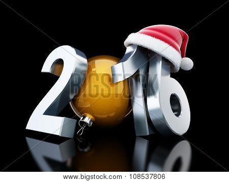 Happy New Year 2016 Santa Hat