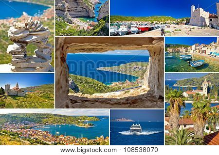 Island Of Vis Tourist Collage