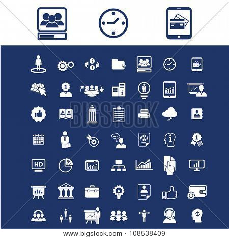 interactive marketing, market icons, signs vector concept set for infographics, mobile, website, application