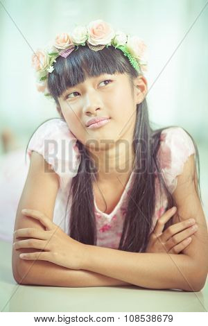 Portrait Of A Beautiful Asian Girl