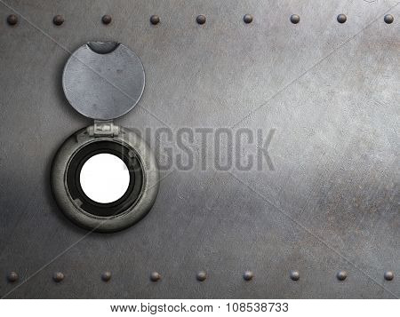 peephole on metal armored door