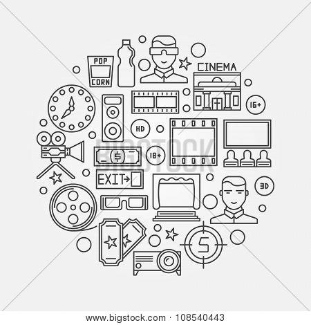 Cinema linear illustration