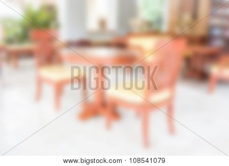 Abstract Blurred In Coffee Shop