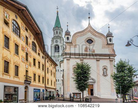 The Basilica Minore Dei Santi Filippo E Giacomo In Cortina D Ampezzo