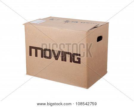 Closed Cardboard Box, Isolated