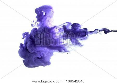 Purple Acrylic Paint In Water..