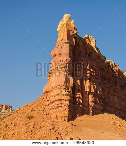 Sandstone rock outcrops in New Mexico