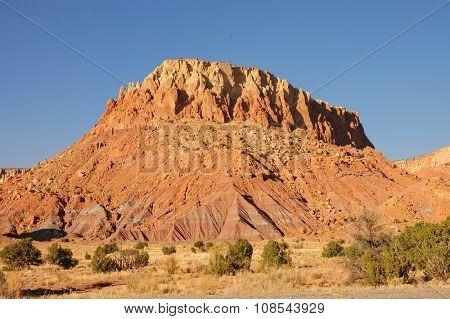 Sandstone rock outcrops in New Mexico