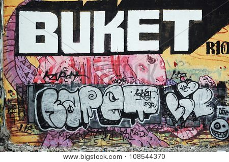 Graffiti Wall Skate Park in Intramuros, Manila, Philippines