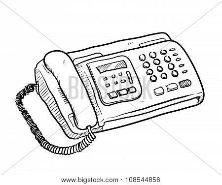 Fax Machine Doodle