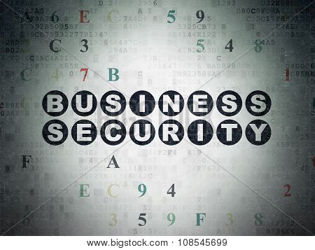 Security concept: Business Security on Digital Paper background