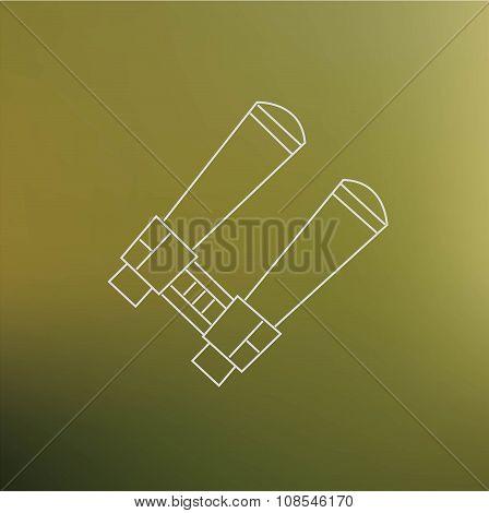 Binocularus Thin Line Icon Isolated On Blur Background