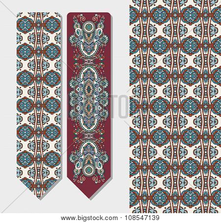 decorative ethnic paisley bookmark for printing