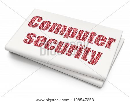 Privacy concept: Computer Security on Blank Newspaper background