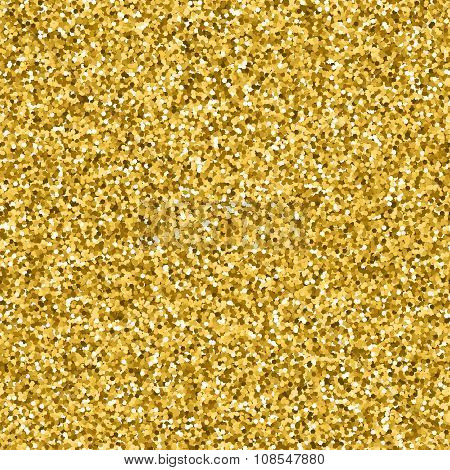 Vector Seamless Golden Glitter Pattern.