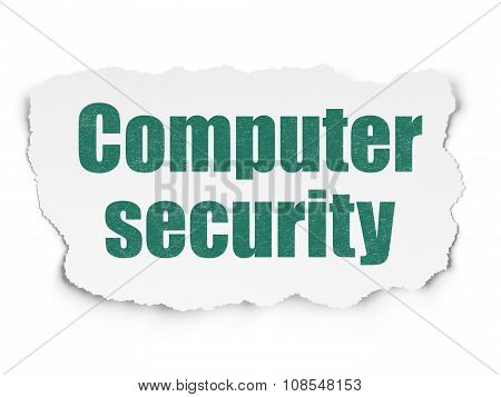 Security concept: Computer Security on Torn Paper background