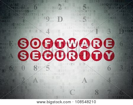 Security concept: Software Security on Digital Paper background