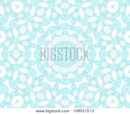 Seamless ornaments turquoise white shiny