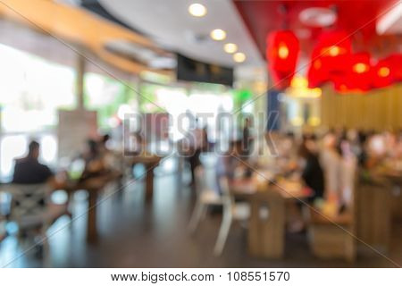 Abstrast Blurred background : restaurant cafe blur with bokeh