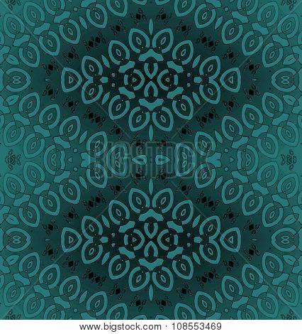 Seamless ornaments diamond pattern turquoise gray