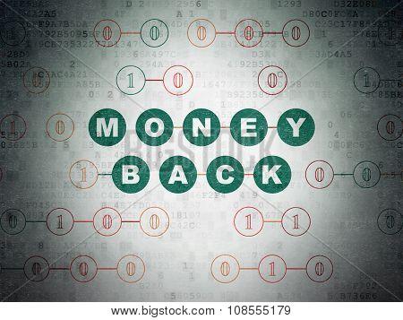 Finance concept: Money Back on Digital Paper background