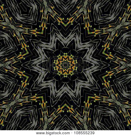 Seamless star patter silver gray yellow black