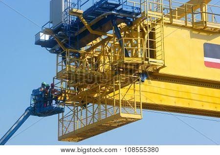 Asian Construction Worker, Overhead Railway, Metro