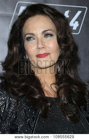 LOS ANGELES - NOV 05:  Lynda Carter at the Fallout 4 video game launch  at the downtown on November 05, 2015 in Los Angeles, CA