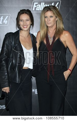 LOS ANGELES - NOV 05:  Renee Stewart, Rachel Hunter at the Fallout 4 video game launch  at the downtown on November 05, 2015 in Los Angeles, CA