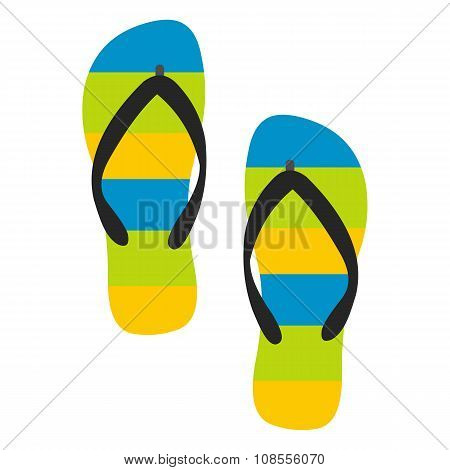 Beach slippers icon