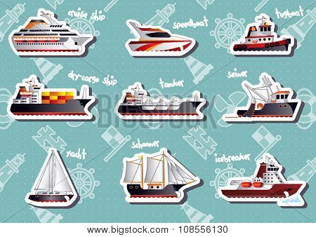 Nautical stickers