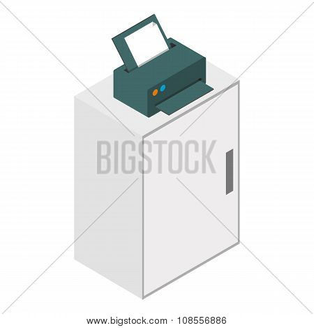 Isometric laser printer icon