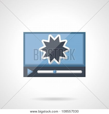 Action movie flat color vector icon
