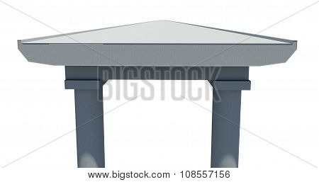 Drawn bridge on white background