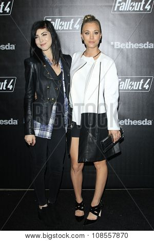 LOS ANGELES - NOV 05:  Briana Cuoco, Kaley Cuoco at the Fallout 4 video game launch  at the downtown on November 05, 2015 in Los Angeles, CA