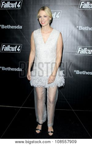 LOS ANGELES - NOV 05:  January Jones at the Fallout 4 video game launch  at the downtown on November 05, 2015 in Los Angeles, CA