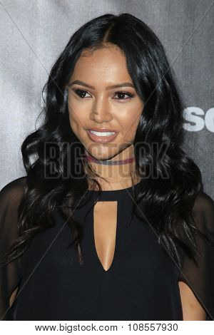 LOS ANGELES - NOV 05:  Karrueche Tran at the Fallout 4 video game launch  at the downtown on November 05, 2015 in Los Angeles, CA