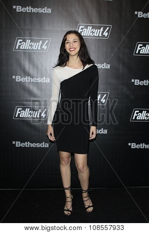 LOS ANGELES - NOV 05:  Katie Findlay at the Fallout 4 video game launch  at the downtown on November 05, 2015 in Los Angeles, CA