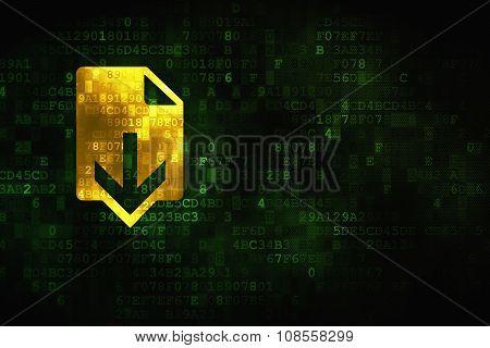 Web design concept: Download on digital background
