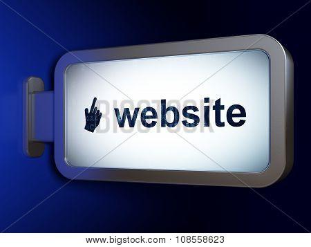 Web design concept: Website and Mouse Cursor on billboard background