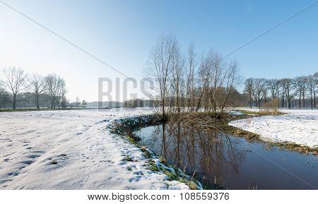 Rural Landscape In Wintertime