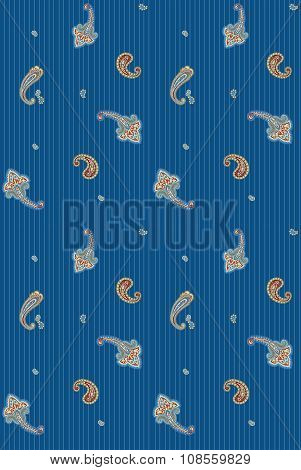 Seamless background classic stripes style with eastern design elements