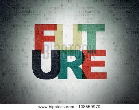 Timeline concept: Future on Digital Paper background