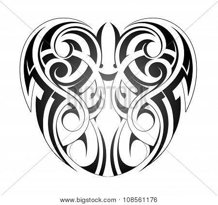 Maory style tattoo